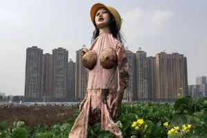 Sperietori de ciori gonflabile, la fermele din China