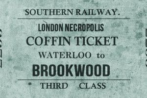 Staţia feroviară Necropolis din Londra: trenul călătorilor neînsufleţiţi