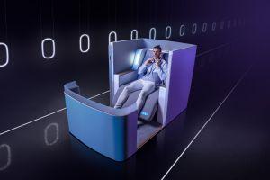 Zbor de lux cu noile scaune de dormit hibrid
