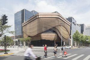 Faţada mobilă a Centrului de Finanţe Bund, Shanghai